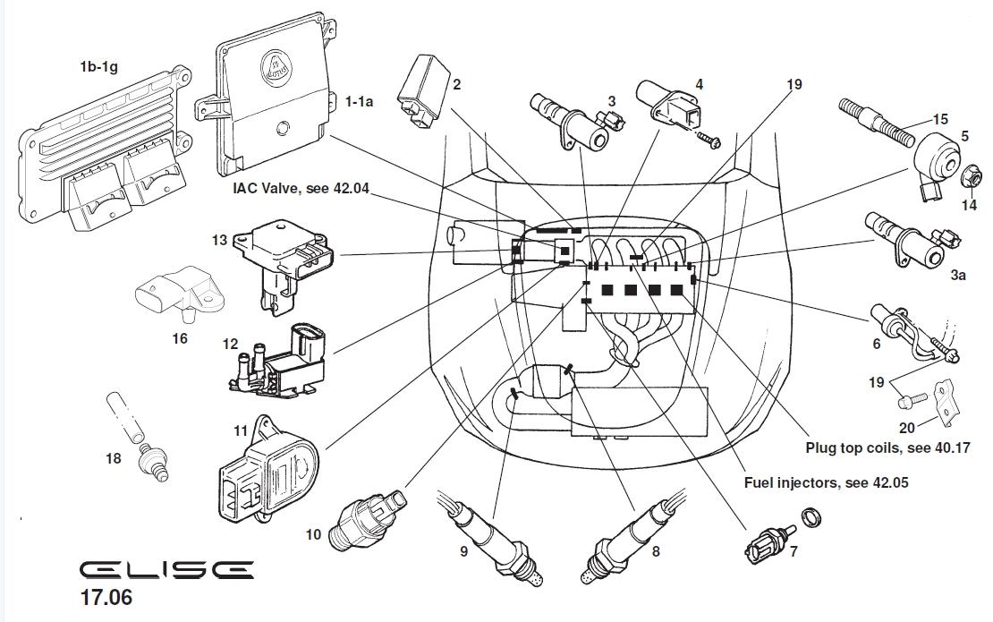 2006 Lotus Elise Exhaust Oxygen Sensor  Catalyst  Pre